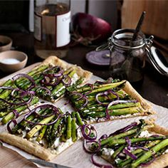 Asparagus Tart with Goat Cheese HealthyAperture.com