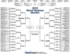 "In March Madness people fill out brackets and who ever gets the ""perfect bracket"" wins a prize"