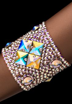 Bettina Rhinestone Bracelet HJ305 CAB | Dancesport Fashion @ DanceShopper.com