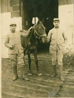 French 53rd Regt men with horse.