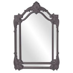 Cortland Charcoal Gray Mirror Howard Elliott Collection Wall Mirror Mirrors Home
