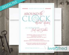 Around the Clock  Printable Bridal Shower Invitation by iwedfred, $18.00