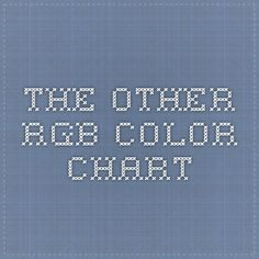 The other RGB Color Chart
