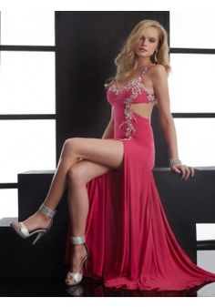 A-line Spaghetti Straps Sleeveless Elastic Woven Satin Prom Dresses With Beaded #FP310 - See more at: http://www.beckydress.com/prom-dresses.html?p=5#sthash.7TPbhbMW.dpuf