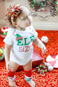 Elf Size - Funny Christmas Onesie or Toddler Tee by ShopTheIttyBitty, $17.00 Christmas Onesie, Funny Christmas, Christmas Baby, Childrens Christmas, Babies First Christmas, Little Christmas, My Little Baby, Baby Love, Baby Shirts