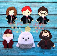 Magic Friends Finger Puppet Set Embroidery Design by EandMeDesigns