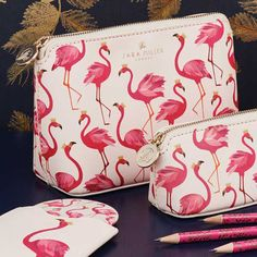 Flamingo Luxury Pencil Case | Sara Miller London | Cards, Stationery, Home Fragrance, Gift