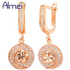 Find More Drop Earrings Information about Drop earrings Retro Crystal Long Round Flower Gold Plated Cubic Zircon Gifts 2016 Dangle Earring for Women Brincos De Festa R238,High Quality pendant push button station,China pendant big Suppliers, Cheap pendant painting from Almei Jewelry Store on Aliexpress.com