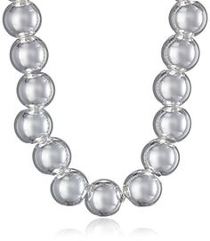 Sterling Silver 8mm Polished Bead Necklace 18 ** See this great product.Note:It is affiliate link to Amazon.