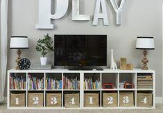 Das Montgomery House Spielzimmer Playroom The House of Figs www landofnod Spielzimmer Das Haus der Feigen www landofnod Loft Playroom, Playroom Organization, Playroom Design, Playroom Decor, Playroom Ideas, Playroom Colors, Playroom Shelves, Cubbies, Basement Ideas