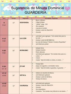 Sugerencia Minuta Dominical para la GUARDERÍA  Basada en una idea de Rosana García Salerno