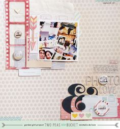 The Scrapbooking Chronicles of Portable Michelle: Photo Love | Two Peas in a Bucket