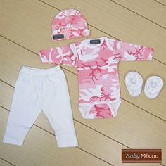 Baby Girl Clothes - Pink Camo | Baby Milano