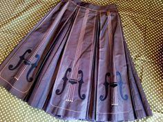 Violin Skirt with box pleats.