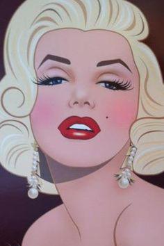 Marilyn Monroe Art ~~ For more: - ✯ http://www.pinterest.com/PinFantasy/gente-~-marilyn-monroe-art/
