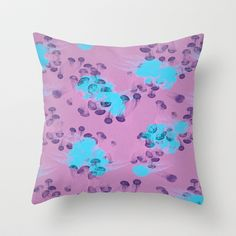 Psychedelic Jellyfish purple (Medusa V.2) Throw Pillow by Voodoo - $20.00