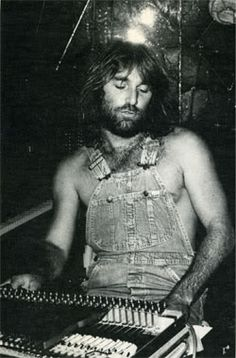 Dennis Wilson at the mixing desk