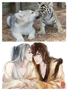 Chinese Artist Creates Human Version Of Cats And Dogs, And The Result Is On Point Pics) : Chinese Artist Creates Human Version Of Adorable Kittens Anime Neko, Pet Anime, Anime Animals, Kawaii Anime, Anime Guys, Anime Art, Cute Animals, Chat D'anime, Monster Falls