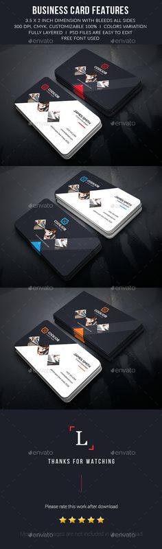 Corporate Business Card Template PSD #visitcard #design Download: http://graphicriver.net/item/corporate-business-card/13445194?ref=ksioks