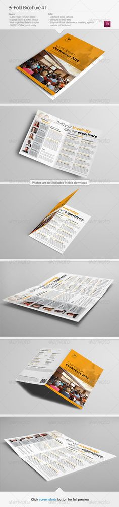 Business Leadership Conference Brochure Template Design By