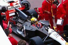 Winner Ayrton Senna, McLaren Honda, talks to engineer James Robinson in the pits. Monte Carlo, Monaco May 1991 Abu Dhabi, Gp F1, Monaco Grand Prix, Mclaren Mp4, Race Engines, Formula 1 Car, Mc Laren, F1 Racing, Car And Driver
