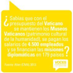 """Pieza VATICANO 2 de la campaña viral """"¿Sabías que?"""" para Voces Católicas Argentina."""
