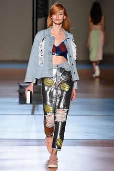 Au Jour Le Jour Spring 2015 Ready-to-Wear  Inspiration: manga inspiration, hyper-visual contemporary Japanese culture, '80s volleyball cartoon