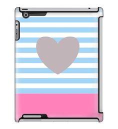 Uncommon LLC Deflector Hard Case for iPad 2/3/4, Wear My Heart Pastel Blue (C0060-WW)