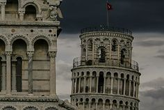 Torre De Pisa, Torre, Pisa, Tempestuoso