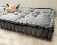 French Mattress Day Bed and Bolster Cushions Bench Seat Pad Window Seat Cushions, Window Benches, Bench Cushions, Velvet Cushions, Floor Cushions, Tufted Bench, Bolster Cushions, Pillows, Bench Seat Pads