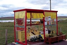 Enjoy the Comforts of Bobby's Bus Shelter (Shetland) Little Free Libraries, Free Library, Bus Shelters, Bus Stop, Cozy Place, School Boy, 20 Years, Shed, Places To Visit