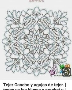 Crochet Heklanje: Kvadratni motiv za salvete i stolnjake - Moj rad 140 Crochet Flower Tutorial, Crochet Lace Edging, Granny Square Crochet Pattern, Crochet Diagram, Freeform Crochet, Crochet Squares, Granny Squares, Crochet Granny, Filet Crochet
