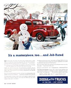 Dodge Trucks Ad (1945?): It's a masterpiece, too... and Job-Rated