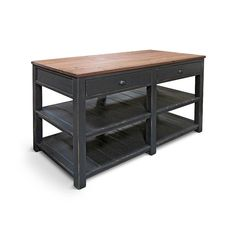 Kitchen Island, Table, Reclaimed Wood, Kitchen Cart, Rustic, Handmade   60 x 30, which is too long but maybe we can ask if they can do smaller   $1000