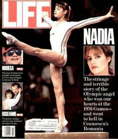 "Nadia Comaneci ~ March 1, 1990 issue ~ Old Life Magazines ~ Click image to purchase. Enter ""pinterest"" at checkout for a 12% discount."