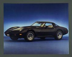 Vintage 1979 Chevrolet Corvette Poster Black by VintageInquisitor