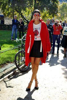 Obsesión del día: Giovanna Battaglia y su abrigo de Comme des Garçons