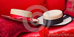Close Up Of Two Straw Hats On Red Gondola Seats In Venice - Download From Over 55 Million High Quality Stock Photos, Images, Vectors. Sign up for FREE today. Image: 85997140