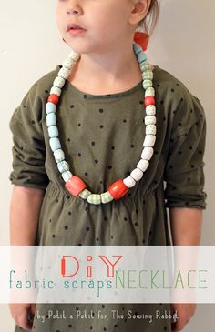 DIY: Fabric Scrap Necklace || The Sewing Rabbit