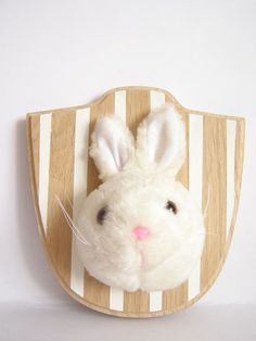 """Maya Dragon: DIY: Bun wall..""""Upcycle old toys to make faux taxidermy for your nursery!"""""""