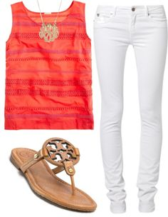 """""""Casual Summer Look"""" by katekinder ❤ liked on Polyvore"""