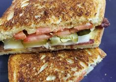 How to Prepare Delicious BPT Grilled Cheese – isabellabistro.com Cheese Food, Cheese Recipes, Outdoor Food, Pickle Relish, Professional Chef, Garlic Salt, Slice Of Bread, Gouda, Sourdough Bread