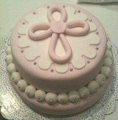 baptism cake for girls