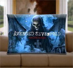 Custom Pillow Cover  Avenged Sevenfold Nightmare by WoodsPillow, $15.00