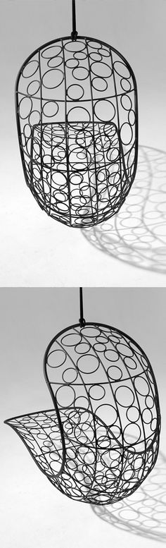 Hanging Chair in circular pattering - hugely comfortable. Get your own from Studio Stirling. Circular Pattern, Stirling, Hanging Chair, Studio, Inspiration, Beautiful, Home Decor, Biblical Inspiration, Decoration Home