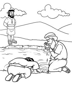gideon coloring pages for sunday school | 41 Best Bible: Gideon images | Gideon bible, Bible crafts ...
