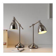 BAROMETER Work lamp, nickel plated nickel plated -