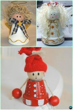 DIY Clay Pot Angel Instruction - DIY Terra Cotta Clay Pot Christmas Craft Ideas