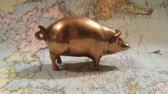 Little brass piggy by Studio11Online on Etsy