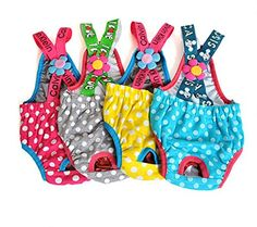 M-Aimee 2PCS Colorful/Comfortable/Cosy Pet Dog Cotton Tighten Strap Sanitary Physiological Pants Pet Underwear Diapers,Random Color,Small,Medium,Large,X-Large Size (Medium) *** Want additional info? Click on the image. (This is an Amazon affiliate link)